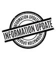 Information Update rubber stamp vector image