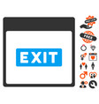 exit caption calendar page icon with dating bonus vector image
