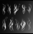 smoke realistic 3d icons on transparent vector image