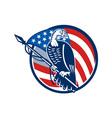 Wild Turkey Perching American Flag vector image