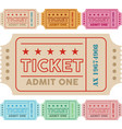vintage ticket with colors vector image vector image