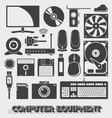 Computer Parts vector image vector image