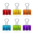 colorful binder clip set vector image