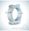 abstract 3d shape vector image