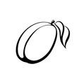 monochrome of plum logo vector image