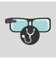 smart glasses connected doctor stethoscope vector image