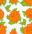 Cute flower seamless background vector image