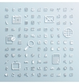 paper icons set of finance events office internet vector image