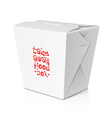 Take away food noodle box vector image