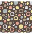 Stylish hand drawn polka dot seamless patterns vector image vector image