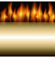 burning stripe vector image