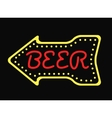 Neon bar cocktail pub sign glowing street vector image