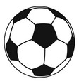 football icon simple style vector image
