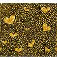 Hand drawn dotted seamless gold glitter pattern vector image
