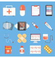 Healthcare and medicine flat concepts and flat vector image