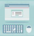 internet browser screen flat design vector image