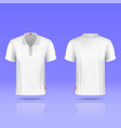 Mens white t-shirt realistic template vector image