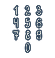 Numbers stickers hand drawing style kids isolated vector image