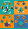 tricks magic and mysticism isometric compositions vector image