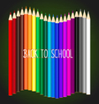 Welcome back to school with Color pencils vector image