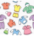 childrens clothes vector image vector image