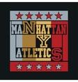 new york city typography manhattan vector image