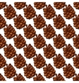 Seamless pattern with fir cones vector image