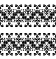 Set of black lace borders isolated on white vector image vector image