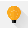 Flat orange lamp icon over grey vector image
