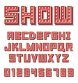 Alphabet with show lamps vector image