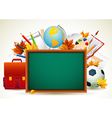 vetor back to school background vector image vector image