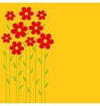 Background red flowers vector image vector image