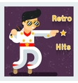 Retro hits singer like Elvis Presley vector image