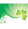 decorative background with clover vector image vector image