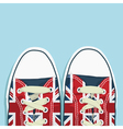 Uk shoes vector image