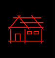 Abstract home- logo for real estate vector image