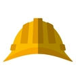 cartoon helmet head protective industrial shadow vector image
