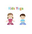 Children yoga vector image