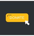 Donate Label vector image