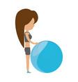 fitness woman cartoon vector image
