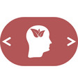 green thinking head icon solid pictogram vector image