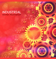 industrial bright template vector image