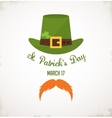 Saint Patricks Day Typographical Background vector image