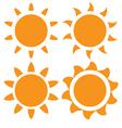 set of orange sun vector image