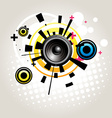speaker abstract vector image