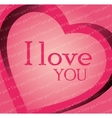 valenties day card i love you graphic vector image