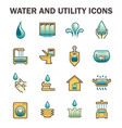 water usage icon vector image