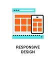 responsive design icon vector image