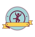 Athletic competitor emblem icon vector image