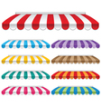 awning vector image